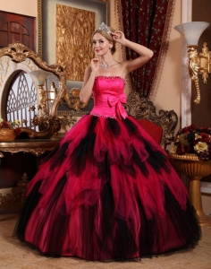 Fashionable Strapless Tulle Beading Princesita Quinceanera Dress