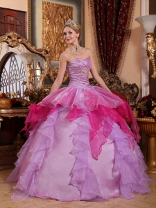Quinceanera Dress Sweetheart Floor-length Organza Beading