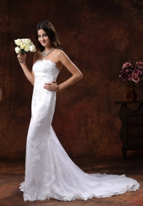 Lace Over Decorate Shirt Mermaid Wedding Dress