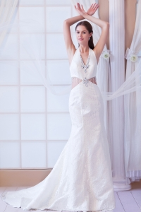 Bridal Gown Empire Strapless High-low Chiffon Appliques