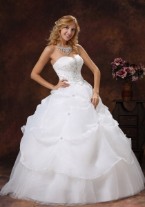 Beaded Decorate Wedding Dress Bodice A-line Sweetheart Tulle