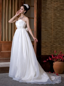 Sweetheart Taffeta and Organza Beading and Ruch Bridal Gown