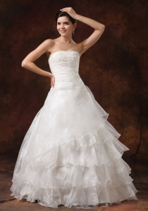 Layered Lace Wedding Dress Decorate Bust For 2013