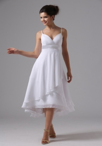 Straps Simple Wedding Dress Custom Made Chiffon