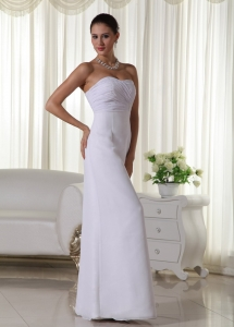 Column Bridal Gown Sweetheart Floor-length Chiffon