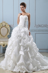 Ball Gown Sweetheart 2013 Wedding Dress Pick-ups With Ruched Bodice