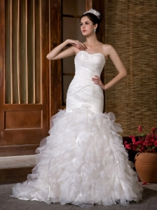 Mermaid Sweetheart Taffeta and Organza Ruch and Rufffles Bridal Gown