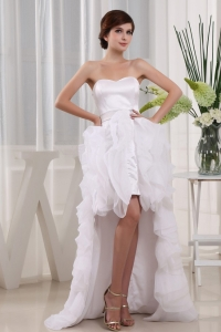 Fashionable High-low Sweetheart and Ruffles For 2013 Prom Dress