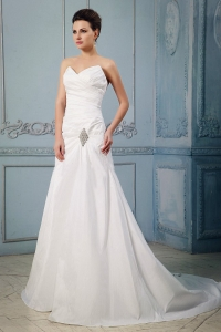 Princess Sweetheart Appliques and Ruch Bridal Gown