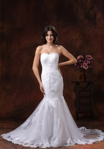 Mermaid Lace Over Skirt Bridal Dress Pretty Embroidery