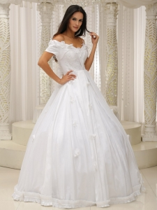 Ball Gown Wedding Dress Off The Shoulder Appliques Customize