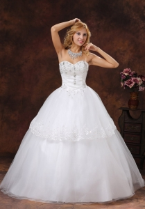 Discount Beading and Embroidery Tulle Wedding Gowns