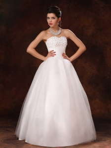 Elegant Beaded Sweetheart Organza New Style Bridal Gown