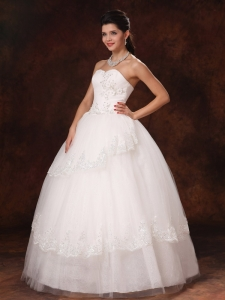 Ball Gown Appliques Sweetheart 2013 New Style Wedding Dress