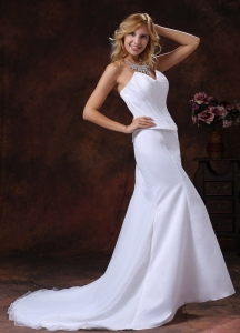 Mermaid Court Train Bridal Gowns Wedding Dress Sweetheart