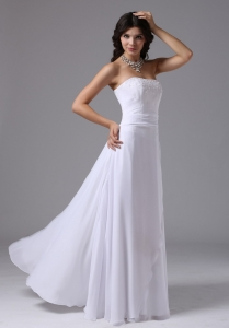 Beading Ruched Strapless Bridal Dress for Wedding Party
