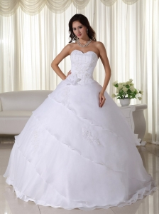 Ball Gown Sweetheart Organza Quinceanera Dress Ruffled Layers