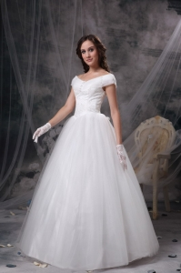 Beautiful Princess Off The Shoulder Wedding Dress with Lace