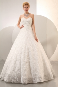 Rolling Flowers Sweetheart Beading Wedding Dress