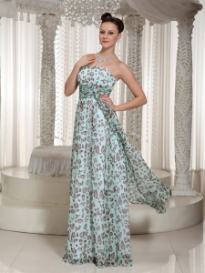 2013 Prom Dress Multi-color Empire Leopard Strapless