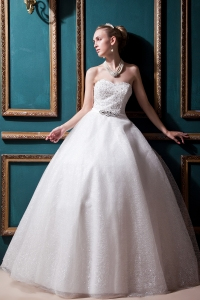 Sweetheart Bridal Gown Dress Beading Sequin Strapless