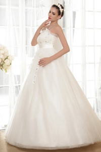 Sweetheart Wedding Dress Floor-length Appliques With Beading