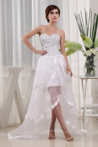 Prom Dress Sweetheart Beading High-low Layeres In 2013