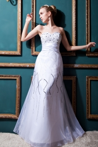 Wedding Dress Sweetheart Floor-lengthTulle Beading