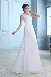 Straps Chiffon Wedding Party Dress V Neck