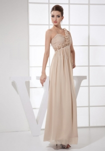 ChampagneOne Shoulder Ankle-length 2013 Prom Dress