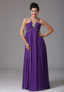 2013 Spagetti Straps Prom Dress Ruch and Beading
