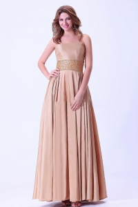 Beaded Prom Dress Ankle-length Chiffon Beaded