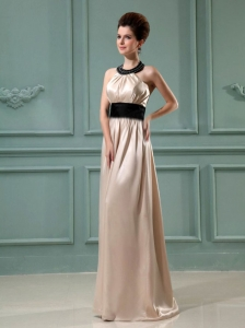 Halter Floor-length Prom Dress Champagne 2013