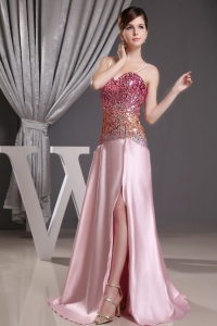 Spaghetti Straps Sequin 2013 Prom Dress Beaded