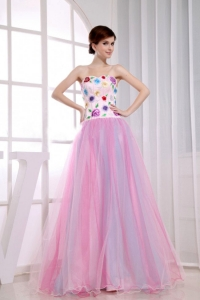 A-Line Colorful Sweetheart Floor-length Prom Dress