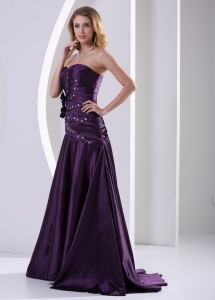 Strapless Beading and Ruch Prom Graduation Dress