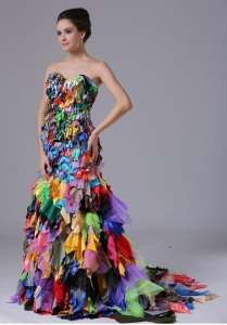 Multi-color Sweetheart Mermaid Lace-up Prom Dress Unique