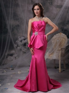 Brooch Ruching Straps Bodice Mini-length Dress for Prom