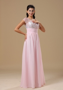 Sweetheart Baby Pink Chiffon 2013 beaded Prom Dress