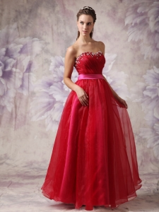 Prom / Evening Dress Wine Red Empire Sweetheart Floor-length