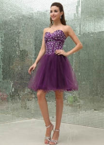 Beaded Bodice and Sweetheart Prom Dress With Mini-length