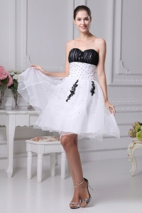 Beading and Appliques 2013 Prom Dress Knee-length