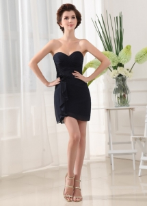Black Prom Dress With Sweetheart Mini-length
