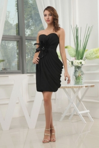 Black Sweetheart For 2013 Prom Dress with Feathers