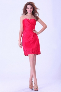 Sweetheart Coral Red Prom / Cocktail Dress Mini-length For Club