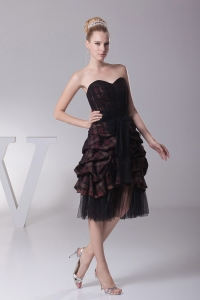 Sweetheart Ruffled Prom Dress With Knee-length