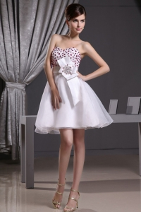 Beaded Decorate Bust Sash For 2013 Short Prom Dress Organza