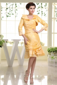 Yellow Mother Of The Bride Dress Custom Made Sweetheart