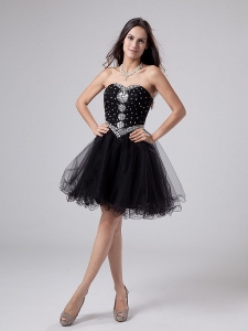 Cocktail Dress Sweetheart Black mini-length 2013
