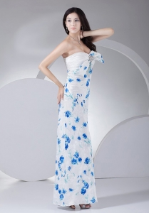 2013 Prom Dress Beading Printing Ankle-length Sweetheart